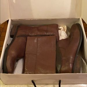 Nine West Brown Rider Boots Size 11... Preowned